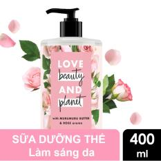 Sữa dưỡng thể sáng da Love Beauty And Planet Delicious Glow 400ml (hồng)