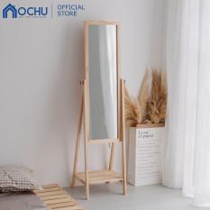 Gương Kệ Soi Toàn Thân Khung Gỗ OCHU – Mirror Shelf – Natural