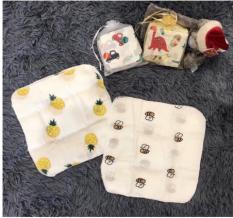 Sét 10 Khăn xô sữa túi lưới cho bé
