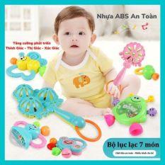 Bộ đồ chơi lục lạc xúc xắc 7 món cao cấp kích thích thính giác, thị giác của bé. – Belki Mart