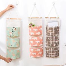 Túi vải treo tường 3 ngăn đựng đồ tiện lợi