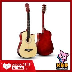 Đàn guitar acoustic cho người mới tập chơi tặng kèm phụ kiện – Bảo hành 12 tháng