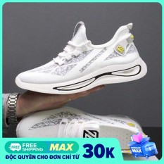 Giày nam thể thao thời trang FS cực đẹp – Giày thể thao nam vải thoáng khí có 2 màu Đen và trắng