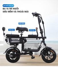 xe đạp điện cho học sinh – Xe điện có 3 ghế có giỏ Adiman giỏ to đi 100k / lần sạc xe đạp điện mini xe đạp điện mini – xe đạp điện- xe điện – xe máy điện – xe điện người lớn – xe điện gấp gọn