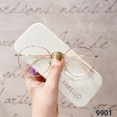 Gọng kính mắt tròn kim loại thời trang nữ 9901 – Gọng kính cận Lilyeyewear
