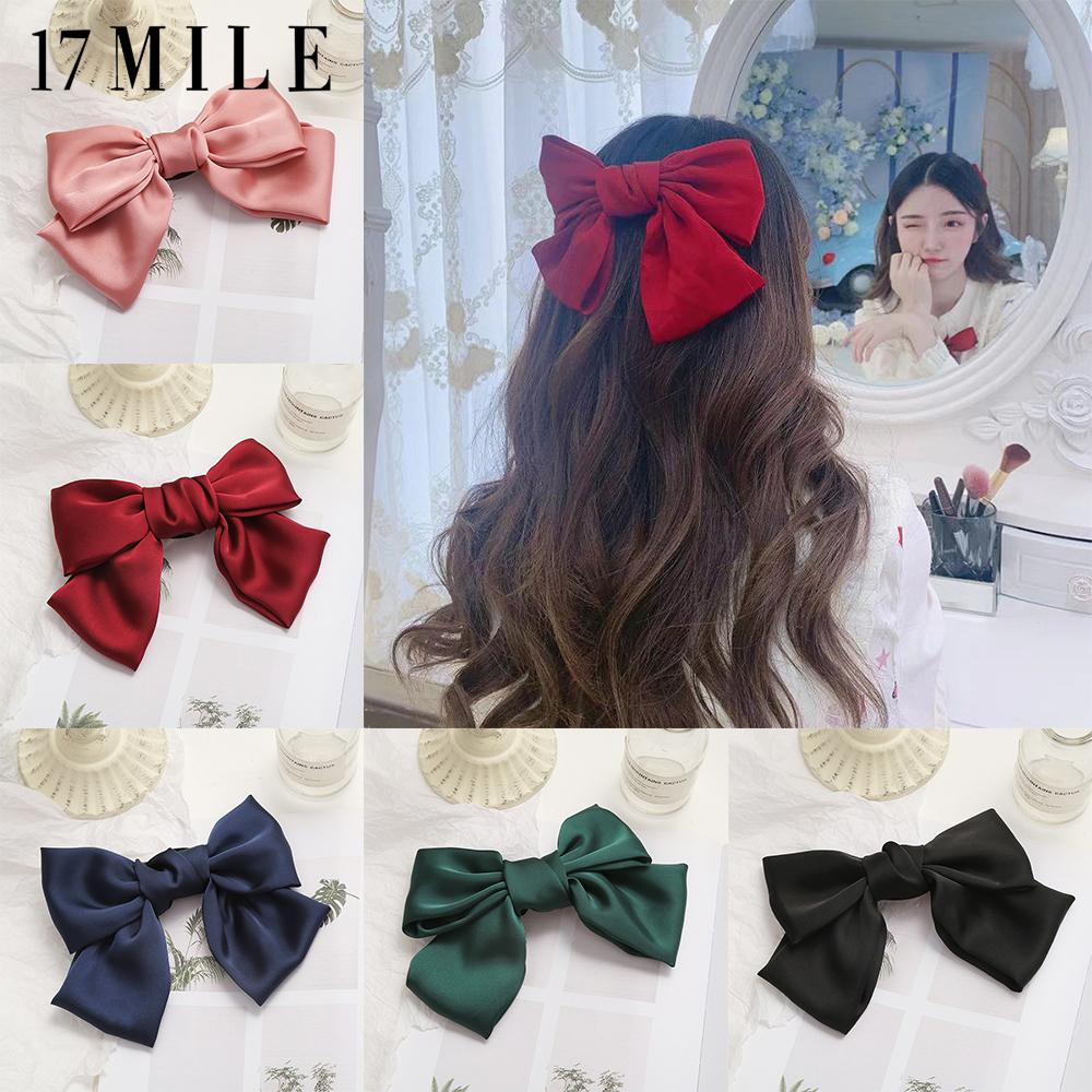 17 Dặm Thời Trang Hàn Quốc Bow-Knot Hoa Đàn Hồi Tóc Ban Nhạc Scrunchies Big Bow Ribbon Tóc Ban Nhạc...