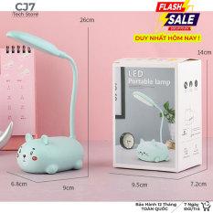Đèn led bàn học, bàn ngủ tiện ích tiết kiệm điện, đèn LED pin sạc đa năng dễ thương hình mèo hổ – cj7tech