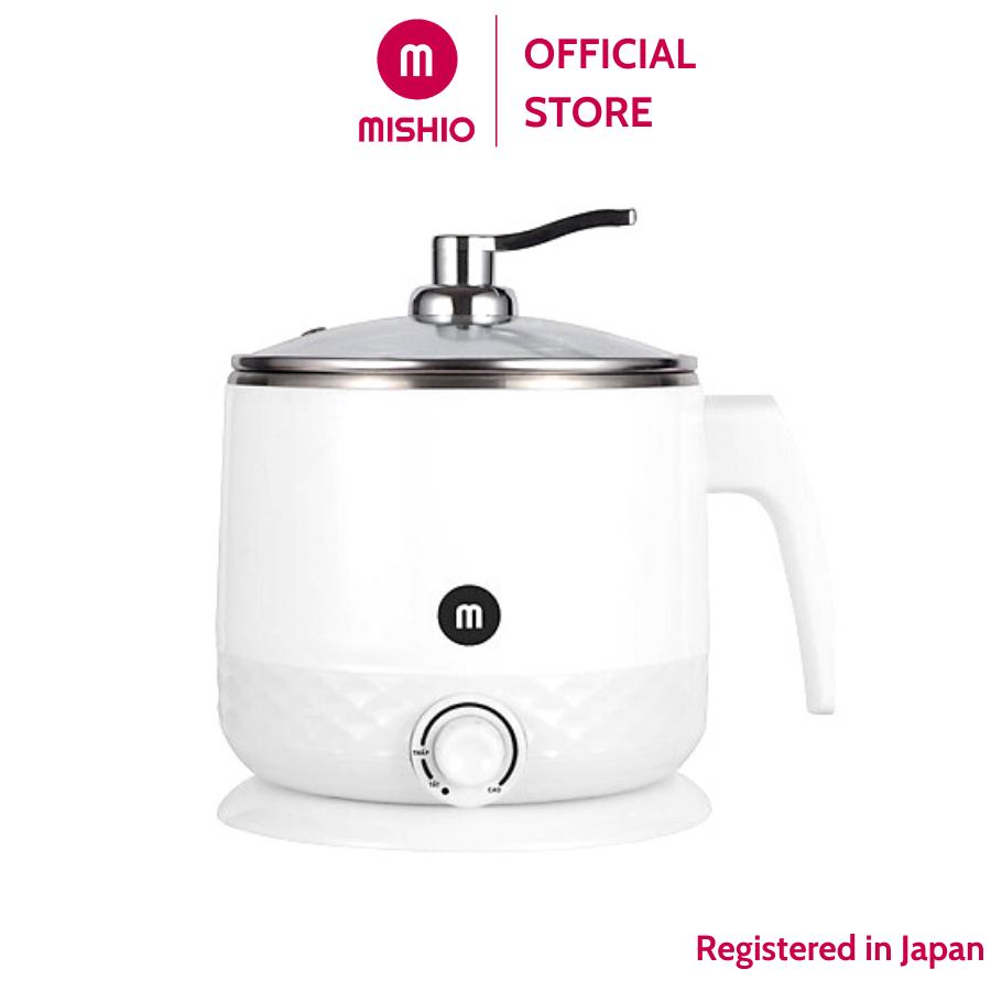 Ca nấu siêu tốc Mishio MK214 1.5L 600W inox 304 – nấu mì nấu lẩu nước sôi, tốc độ đun nhanh, công suất hoạt động ổn định
