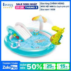 Bể bơi phao cầu trượt cá sấu chúa intex 57165 – Hồ bơi cho bé mini, Bể bơi phao trẻ em, bể bơi cho bé, bể bơi ngoài trời
