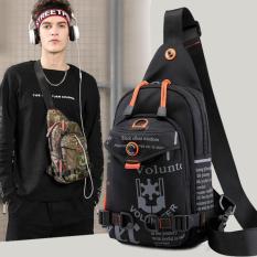 Túi đeo chéo nam Volunteer Canvas nhiều ngăn tiện ích/Túi chéo nam chống thấm nước bền bỉ với thời gian