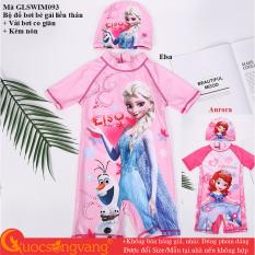 Bộ đồ bơi bé gái Elsa set đồ bơi aurora kèm nón GLSWIM093