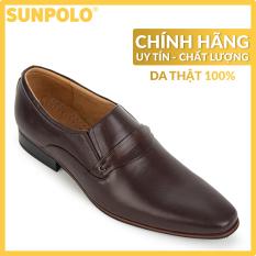 Giày Tây Nam Da Bò Pull-up Cao Cấp SUNPOLO SU8003 (Đen, Nâu, Đỏ)