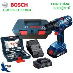 Máy khoan động lực dùng pin Máy khoan tường dùng Pin 18V Bosch GSB 180-LI PROMO Xuất xứ Malaysia Bảo hành điện tử 6 tháng