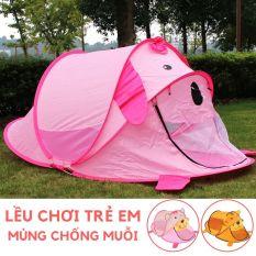 Lều chơi Nhà bóng hình Gấu Mùng ngủ chống muỗi gấp gọn cho trẻ em trong nhà ngoài trời