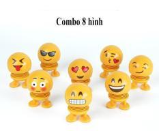 Bộ đồ chơi Emoji lò xo 8 món giải trí xả tress Đồ chơi trang trí emoji 8 món
