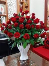 Lọ hoa bàn tay phật. Lọ cắm hoa Gốm Sứ Bát Tràng. Size 28cm