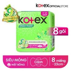 [Tặng Kotex Liner Cool cho đơn từ 149K] Combo 8 Gói BVS Kotex Thảo dược kháng khuẩn khử mùi SMC cải tiến mới 23 cm ( 8 miếng/gói)