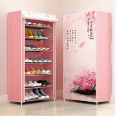 [Hàng Mới] Tủ giày dép 7 tầng HỌA TIẾT cao cấp- Kệ Giày Dép 7 Ngăn Mẫu Mới- Tủ vải đựng giày dép 7 ngăn (Màu ngẫu nhiên) – Tủ giày, Tủ đựng giày dép, Tủ xếp giày ngăn nắp gọn gàng, xinh xắn