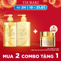 [MUA 2 TẶNG MẶT NẠ TÓC] Bộ đôi dầu gội xả phục hồi ngăn rụng tóc Tsubaki Premium Repair