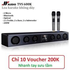 Dàn Karaoke cao cấp JY TVS-600K Kèm 2 Micro không dây – Hát Karaoke cực đỉnh – Tặng bộ pin sạc