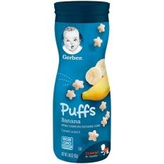(Mẫu mới date 11/2021)Bánh ăn dặm Gerber Puff vị chuối hàng nhập khẩu chính hãng
