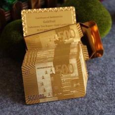 Bộ Bài Tây Mạ Vàng – Bộ Bài Tây Họa Tiết Euro , Dolar, USA Mạ Vàng Cao Cấp Sang Trọng