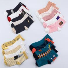 Set 5 đôi tất cổ cao thu đông mềm mại và ấm áp cho bé TTE13