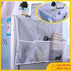 [HỌA TIẾT ĐẸP – KHÔNG PHAI MÀU – DỄ DÀNG LAU CHÙI] Tấm Phủ, miếng trải che, đậy nóc Tủ Lạnh Có Túi Đựng, bảo vệ, làm sạch nóc tủ lạnh kích thước 130*55cm
