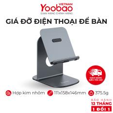 Giá đỡ điện thoại máy tính bảng cao cấp bằng kim loại siêu bền có thể thay đổi chiều cao Yoobao B5 – Hàng phân phối chính hãng – Bảo hành 12 tháng 1 đổi 1