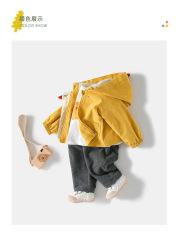 [Hàng Mới Về] Áo khoác gió 2 lớp cho BÉ hình con GÀ con có mũ trùm đầu cho bé từ 1 đến 5 tuổi