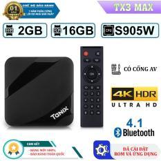 AndroidTivi Box Tanix Tx3 Max Ram 2G- Rom 16G Tích Hợp Bluetooth 4.0 (Bảo Hành 12 Tháng)