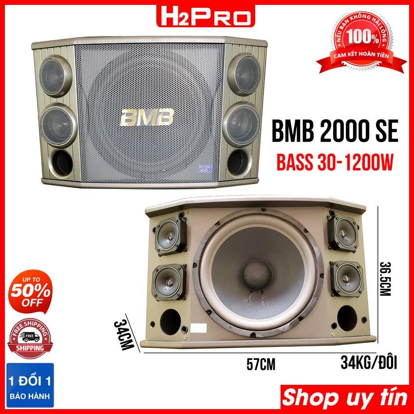 Đôi loa BMB 2000 SE 1200W bass 30, 3 đường tiếng, 2 loa treble 8cm, 2 loa mid 8cm loa...