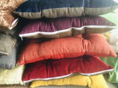 đệm ngồi vuông vải linen dầy 43cm x 43cm – màu ngẫu nhiên