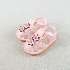 sandal tập đi bé gái size 15-19 đính hoa