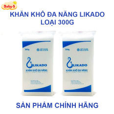 Giấy khô đa năng Likado, Khăn vải khô đa năng 300g chính hãng mềm mịn không mùi an toàn cho bé sơ sinh (270 tờ) Baby-S – SKH007