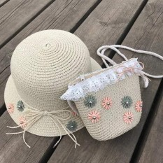 Bộ nón cói và túi cho bé gái: chi tiết cho nhí. Quà tặng đáng yêu cho bé.