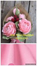 Giấy Nhún Ý cao cấp làm hoa giấy tông HỒNG