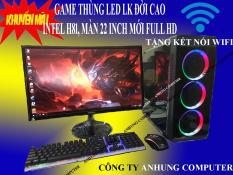 [MÁY MỚI 2020] Bộ máy tính để bàn Màn 22 inch mới full box cam kết siêu mượt GAME lol, cf, pubg mobi, fifa online… Thùng led, Chip i3 4130 intel H81, ram 8g, ổ SSD, sản phẩm trọn bộ cắm điện là chơi game