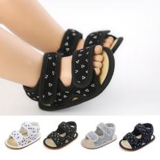Giày tập đi Sandal cho bé trai bé gái từ 0-12 tháng đế mềm chống trơn trượt phong cách Hàn Quốc D18