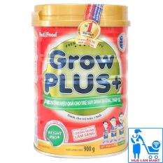 Sữa Bột Nutifood Grow Plus+ Đỏ Hộp 900g (Dinh dưỡng hiệu quả cho trẻ suy dinh dưỡng, thấp còi từ 1~10 tuổi)