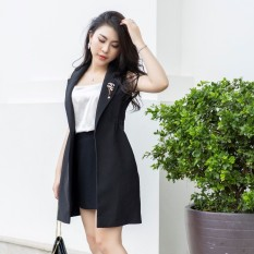 G Beauty Áo Vest Không Tay Lưới Sau Lưng Đen
