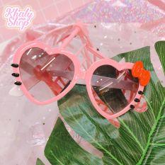 Mắt kính nhựa cao cấp kiểu trái tim Mèo Kitty dành cho trẻ em màu hồng – 40MKKTT16