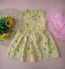 Váy bé gái THÔ ĐŨI 2-7 tuổi 9-25kg SILBER KIDS họa tiết hoa cực xinh phối dây nơ