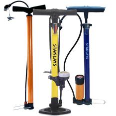 Bơm xe đạp xe máy cao cấp Đồng hồ đo áp suất, van bơm có đầu gài tiện lợi cho xe Honda và.xe đạpThiết kế thông minh lực bơm nhẹ nhành Rất nhỏ gọn, nhẹ và dễ xài
