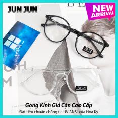 Gọng kính giả cận nam nữ cao cấp Hàn Quốc – Kính cận tròn không độ mẫu đẹp lạ – Tặng kèm túi đựng + Khăn lau – Bảo hành 12 tháng 1 đổi 1 (JJTT )