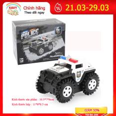 Xe ô tô đồ chơi chạy pin,xe cảnh sát cho bé, chạy bằng pin tiểu (màu trắng-chưa kèm pin) nhựa ABS an toàn