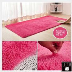 Thảm lông trải sàn màu hồng đậm kèm ảnh thật