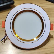 ĐÈN LED ÂM TRẦN 7W 3 màu Viền vàng (Ø 90/120)