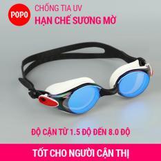 Kính bơi cận cho người cận thị POPO 825 độ cận từ 1.5 độ đến 8.0 độ, chống tia UV, an toàn cho mắt, ngăn nước tuyệt đối POPO Collection