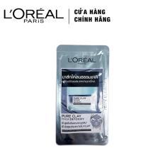 Mẫu thử – Mặt nạ đất sét thanh lọc giảm mụn đầu đen L'Oreal Paris Pure Clay mask Detoxify